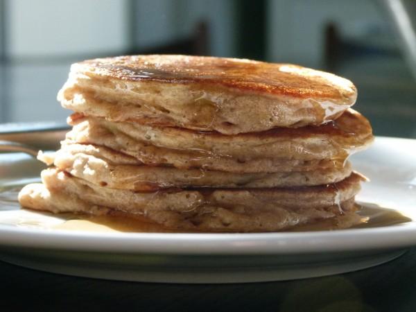 apple-dipped pancakes | pamela