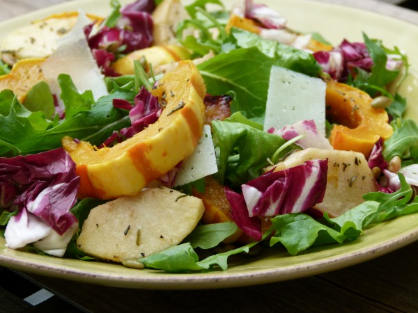 delicata squash and apple salad | pamela salzman