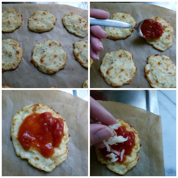 prebake the crusts and then top with sauce and cheese