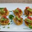 Mini Chicken Tostadas Recipe (vegetarian adaptable)