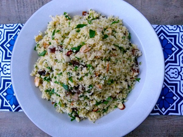 couscous with dried apricots and herbs | pamela salzman