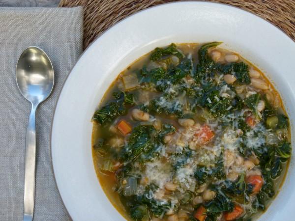 white bean and kale minestrone | pamela salzman