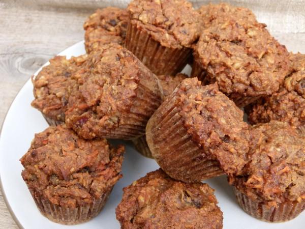 banana carrot almond flour muffins | pamela salzman