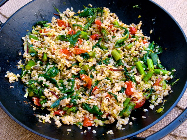 Italian Fried Rice with brown rice and veggies | pamela salzman