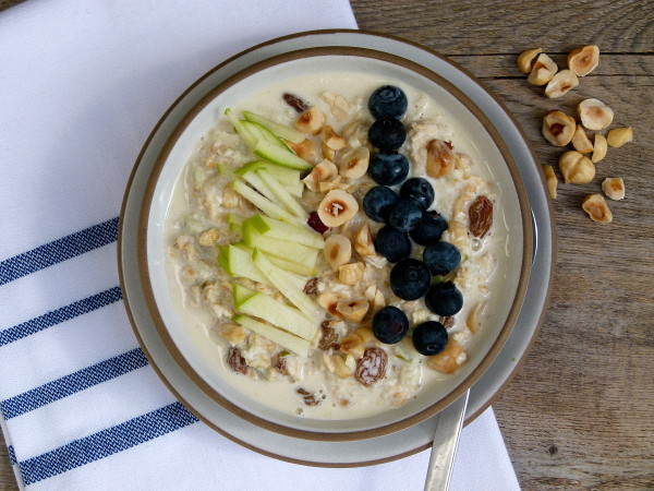 Bircher Muesli with Hazelnuts and Golden Raisins | Pamela Salzman