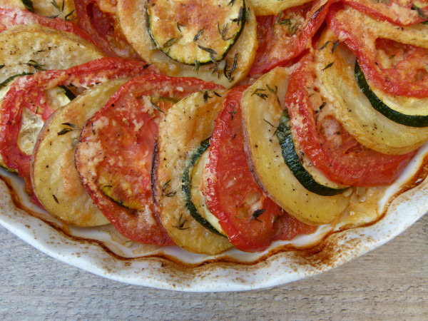 roasted summer vegetable tian | pamela salzman