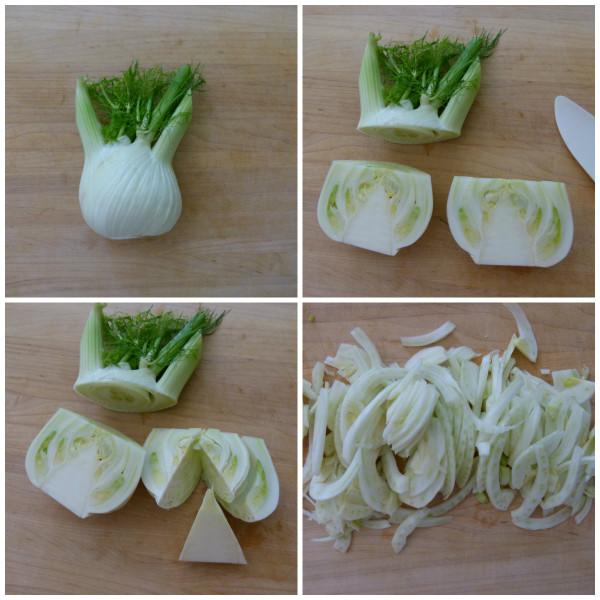 cutting fennel