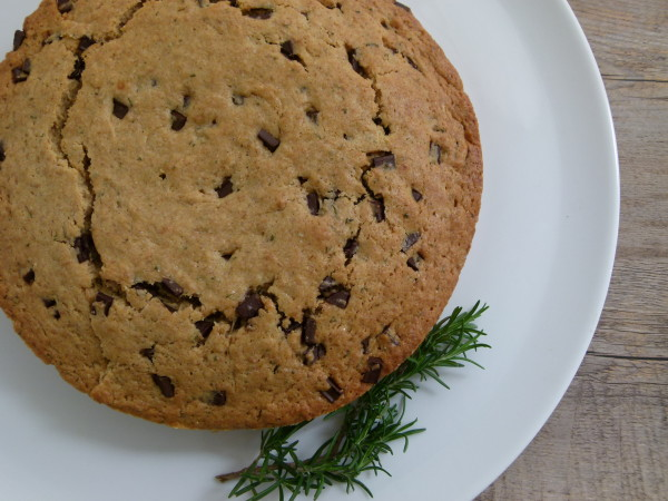 whole grain olive oil cake with rosemary and dark chocolate | pamela salzman