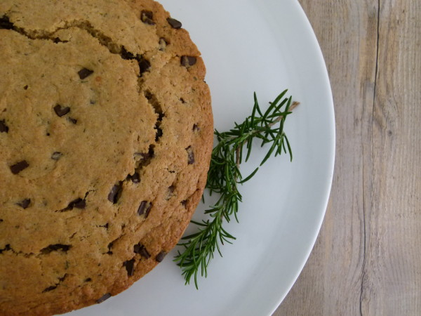 whole grain olive oil cake with rosemary and dark chocolate |pamela salzman