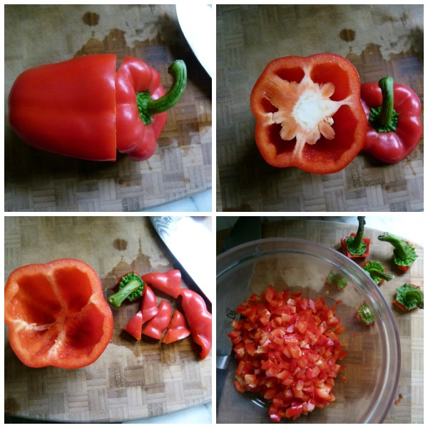 how to cut the peppers