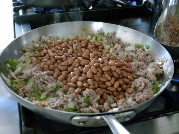 after sautéing veggies, add everything