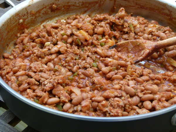 turkey and pinto bean sloppy joe mixture