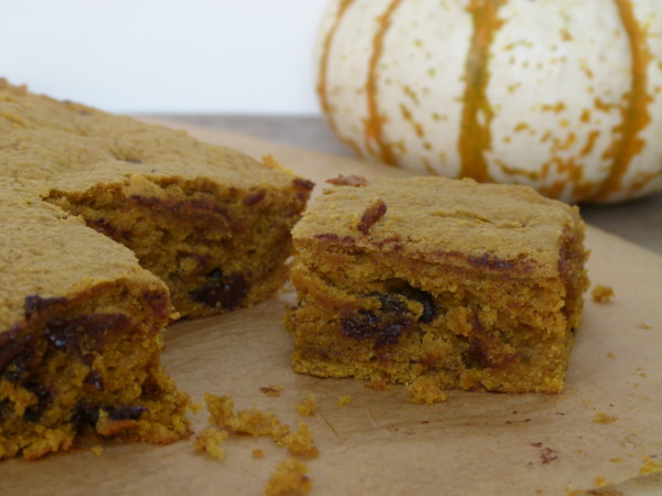 whole grain pumpkin chocolate chip bars | pamela salzman