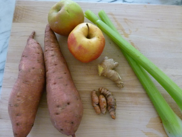 sweet potato=apple-ginger juice | pamela salzman