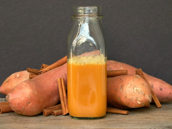sweet potato-apple-ginger juice | pamela salzman
