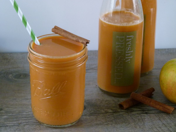 freshly pressed sweet potato-apple-ginger juice | pamela salzman