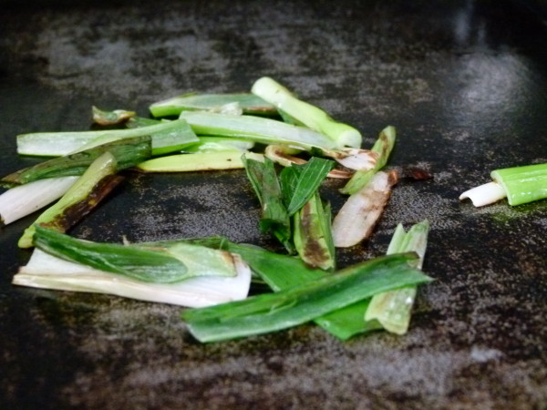 cooking green onions