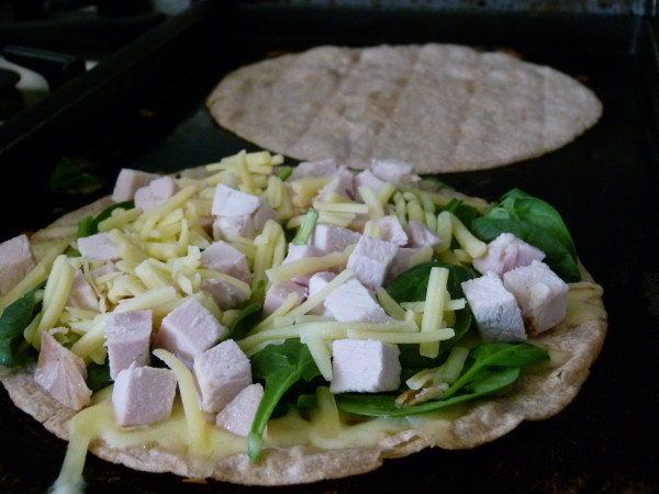 cooking the quesadillas