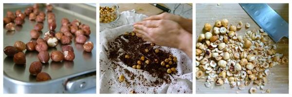 prepping hazelnuts
