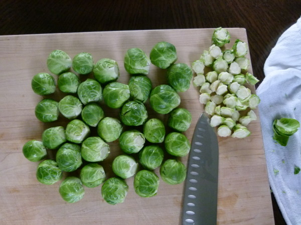 trim the sprouts