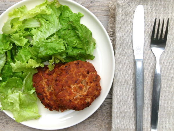 wild salmon patties  | pamela salzman
