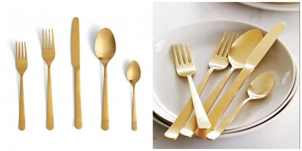 my favorite gold flatware