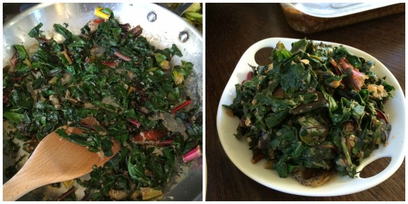 """Creamed"" Swiss Chard"