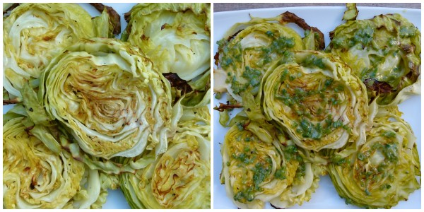 roasted cabbage wedges | pamela salzman