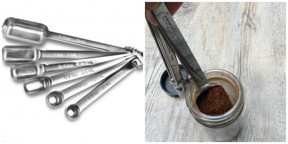 spice jar measuring spoons