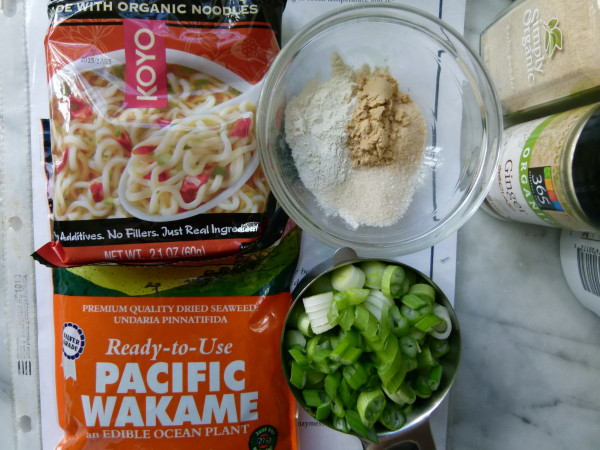 ingredients for homemade ramen noodle soup