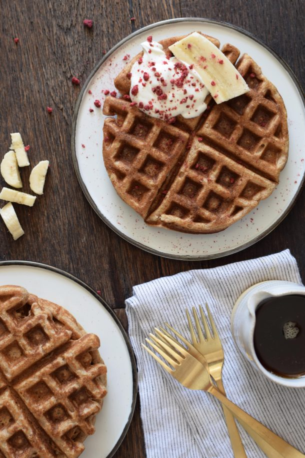 whole grain buttermilk waffles recipe (refined sugar-free, gluten-free adaptable) | Pamela Salzman
