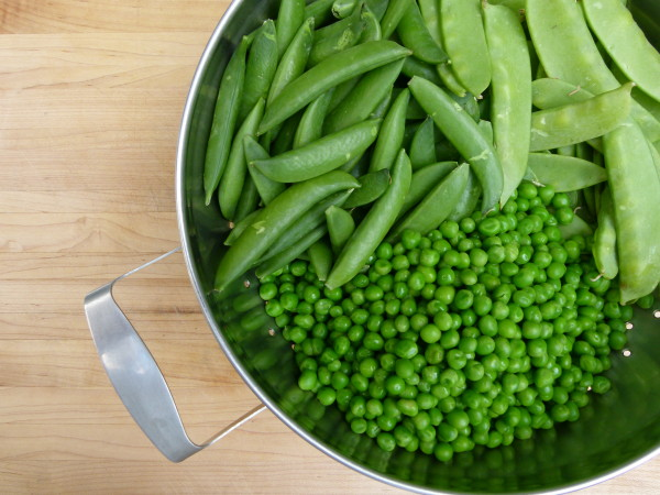 three types of peas