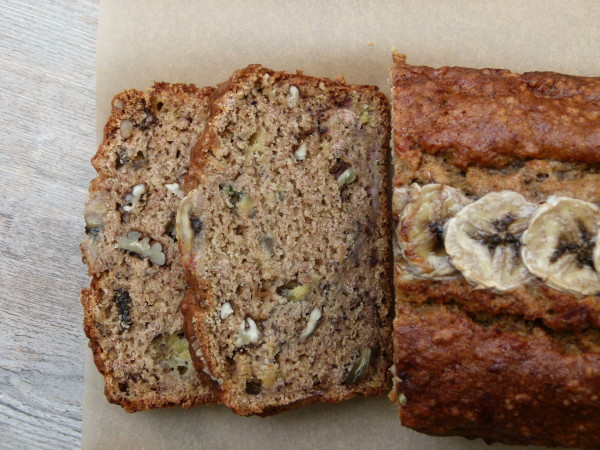 whole grain banana bread with almond pulp | pamela salzman