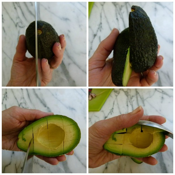 cutting an avocado | pamela salzman