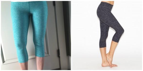 Beyond Yoga salt and pepper stretch pants