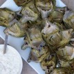 Grilled artichokes with lemon-caper dipping sauce recipe