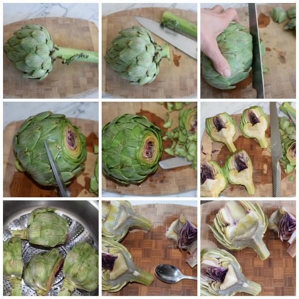 prepping artichokes | pamela salzman