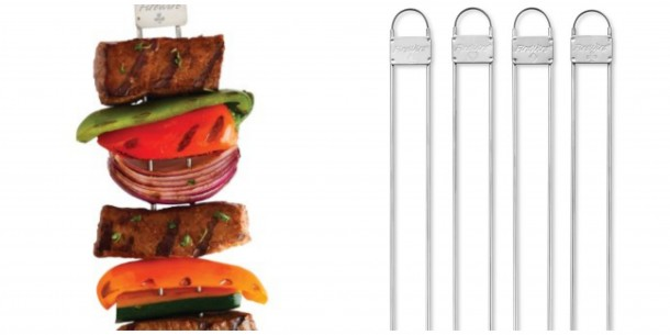 double prong stainless skewers