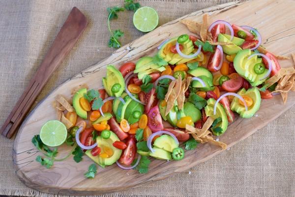 deconstructed guacamole salad | pamela salzman