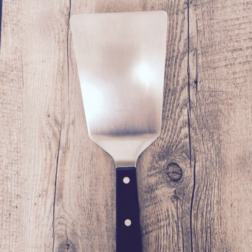 wide stainless spatula |pamela salzman