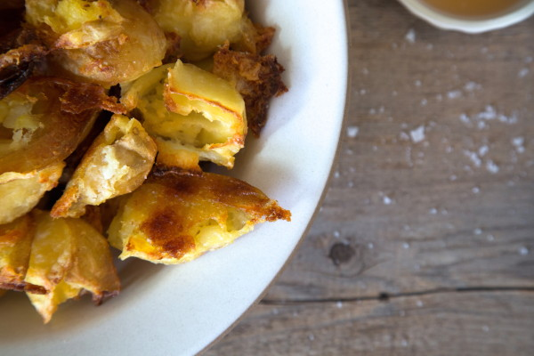 crispy salt and vinegar potatoes | pamela salzman