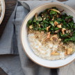 Savory Oats with Kale, Mushrooms and Walnuts Recipe + other ideas for savory oats