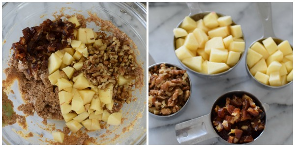 apples, walnuts and dates