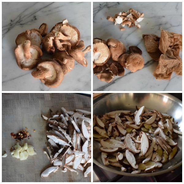 cleaning shiitake mushrooms