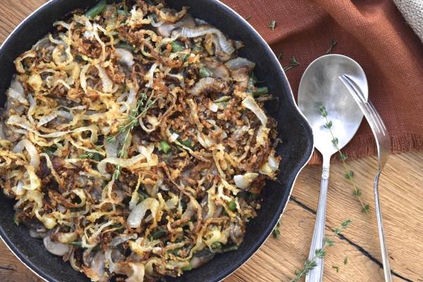 healthy green bean casserole | pamela salzman