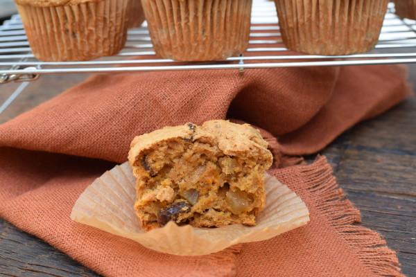 whole grain sweet potato and date muffins | pamela salzman