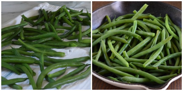 blanche and shock green beans