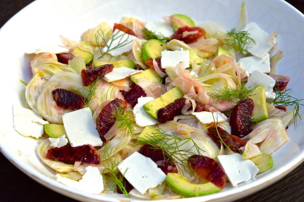 fennel salad with citrus, avocado and ricotta salata | pamela salzman