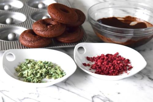 baked chocolate doughnuts | pamela salzman