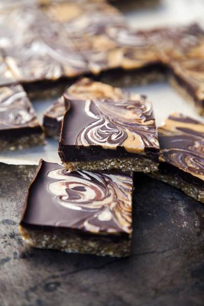 no-bake chocolate peanut butter bars | pamela salzman